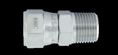 JIC Swivel Female x BSPT Male Adapter